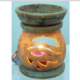 Oil Burner~ Bohemian Hippy Hand Carved Large Eye of Horus Oil and Wax Melt Burner~ By Folio Gothic Hippy OB812